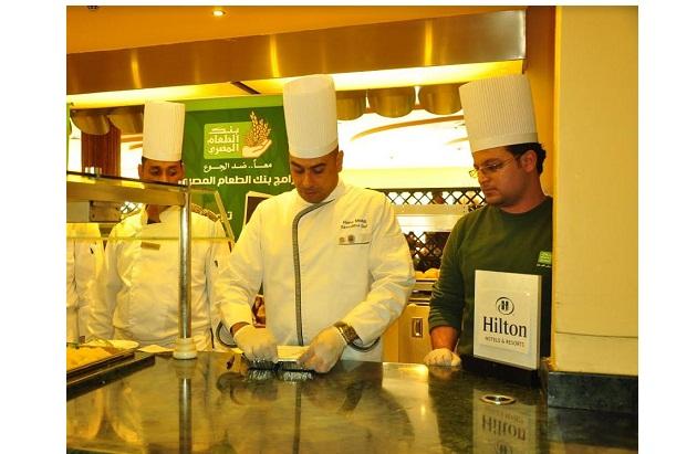 4200 وجبة غذائية من فنادق هيلتون لبنك الطعام