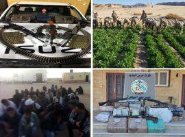 قوات حرس الحدود توجه ضربات قاصمةللعناصر الإجرامية والمهربين